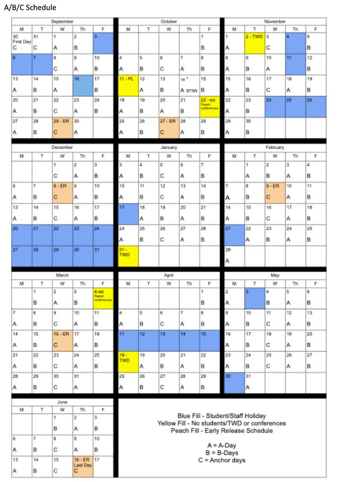 A/B/C Calendar